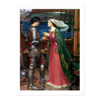 John W Waterhouse - Tristan and Isolde (1916) Postcard