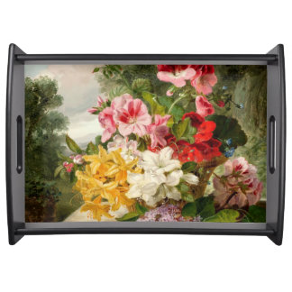 John Wainwright, Floral Still Life Serving Tray