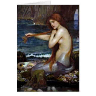 John Waterhouse Mermaid Card