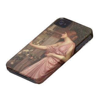 John Waterhouse- Psyche entering Cupid's Garden iPhone 4 Case-Mate Cases