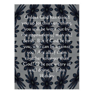 John Wesley Inspiration Quote With Amazing Design Postcard