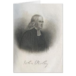 John Wesley Methodist founder Card