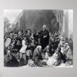 John Wesley preaching Poster