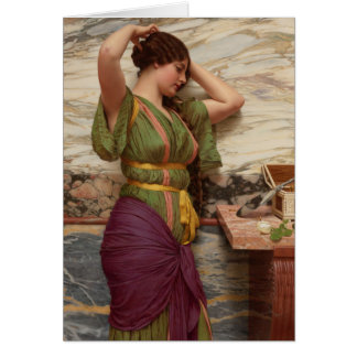 John William Godward A fair reflection CC0949 Note Card