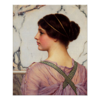 John William Godward - A grecian lovely Poster