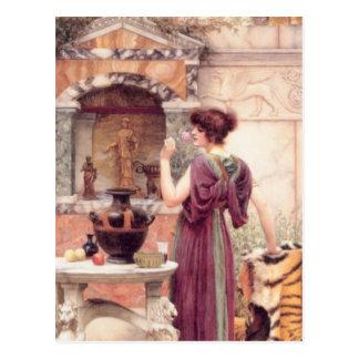 John William Godward - At the Garden Postcard