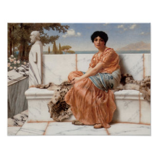 John William Godward - In the Days of Sappho Poster