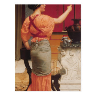 John William Godward - Lesbia with her Sparrow Postcard