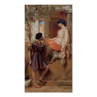 John William Godward - The old old story Poster