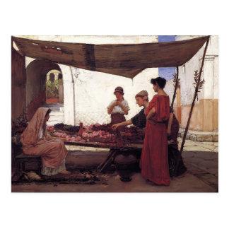 John William Waterhouse- A Flower Stall Postcard