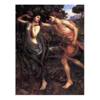 John William Waterhouse- Apollo and Daphne Postcard