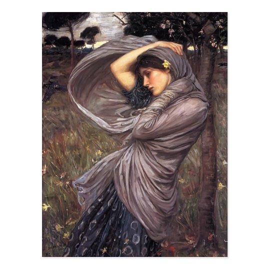 John William Waterhouse- Boreas Postcard