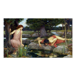 John William Waterhouse Echo and Narcissus Poster