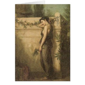 John William Waterhouse Gone But Not Forgotten Card