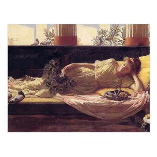 John William Waterhouse- Its sweet doing nothing Postcard