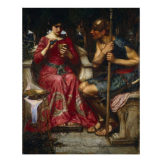 John William Waterhouse - Jason and Medea Poster