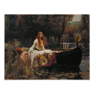 John William Waterhouse - Madame de Shalott Photo D'art