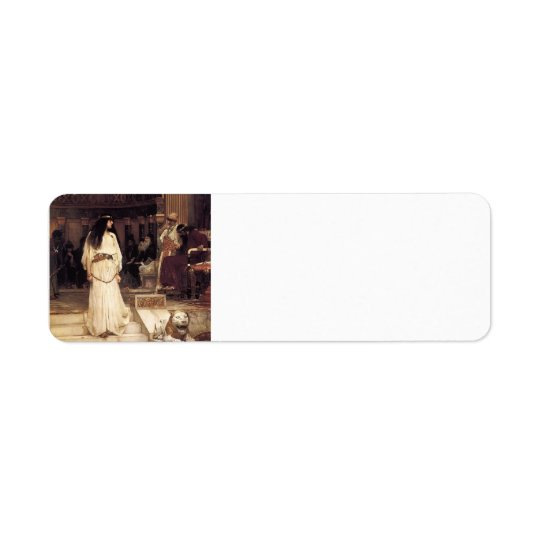 John William Waterhouse- Mariamne Leaving Return Address Label