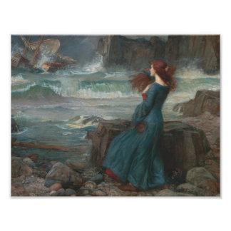 John William Waterhouse - Miranda - The Tempest Photo Print