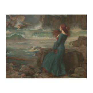 John William Waterhouse - Miranda - The Tempest Wood Print