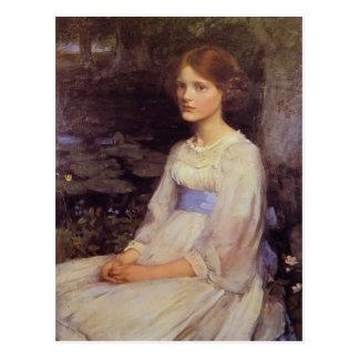 John William Waterhouse- Miss Betty Pollock Postcard