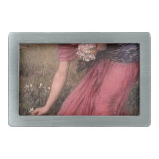 John William Waterhouse - Narcissus - Fine Art Belt Buckles