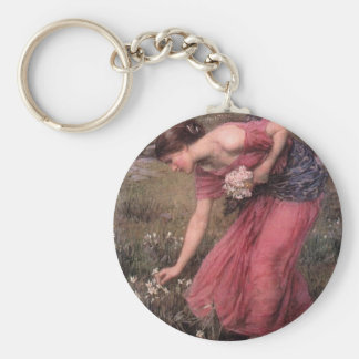 John William Waterhouse - Narcissus - Fine Art Keychain