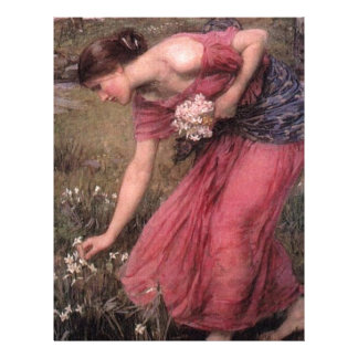 John William Waterhouse - Narcissus - Fine Art Letterhead