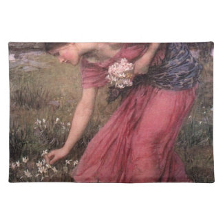 John William Waterhouse - Narcissus - Fine Art Placemat