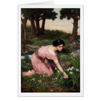 John William Waterhouse - Spring Spreads... Card