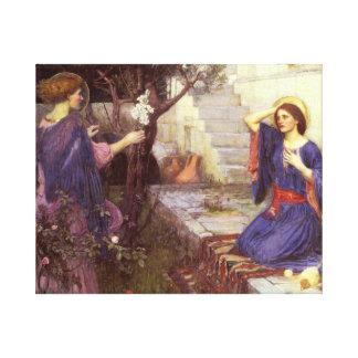 John William Waterhouse - The Annunciation Canvas Print