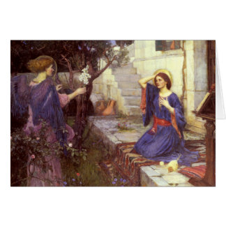 John William Waterhouse - The Annunciation Card