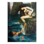 John William Waterhouse The Siren Poster