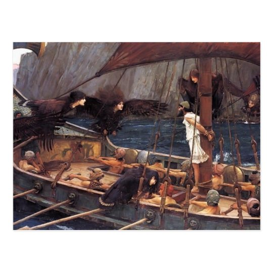 John William Waterhouse- Ulysses and the Sirens Postcard