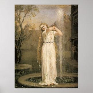 John William Waterhouse Undine Poster