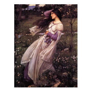 John William Waterhouse- Windflowers Postcard