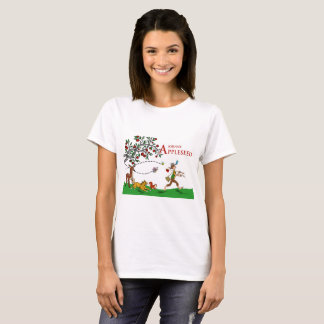 Johnny Appleseed T-Shirt, Animals and Apple Tree T-Shirt