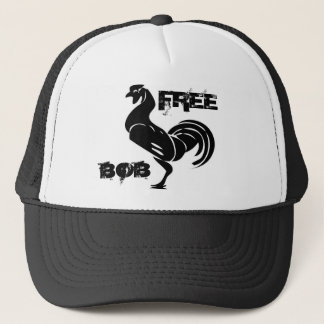 johnny_automatic_rooster_silhouette, FREE , BOB Trucker Hat