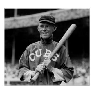 Johnny Evers, Chicago, 1913 Print