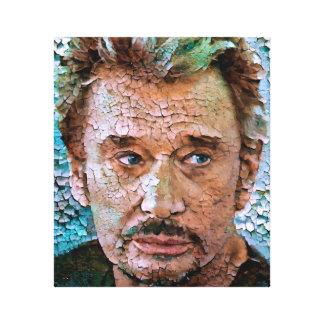 Johnny Hallyday Tribute Portrait 2 Canvas Print