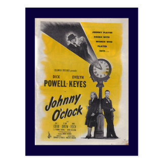 Johnny O'Clock -- Monochrome Poster Postcard