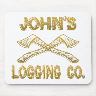 John's Logging Company Mouse Pad