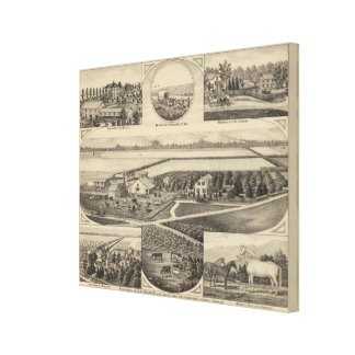 Johnson and Maxell Residences, Kansas Canvas Print
