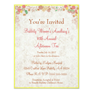Johnson Brothers China Charity Afternoon Tea  - 4.25x5.5 Paper Invitation Card