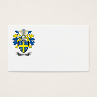 Johnson Coat of Arms Business Card