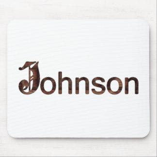 Johnson Family Name Mouse Pad