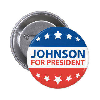 Johnson For President 2 Inch Round Button