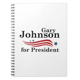 Johnson For President Spiral Notebook