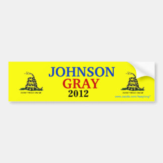 JOHNSON/GRAY GADSDEN FLAG BUMPER STICKER