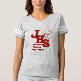 Johnson HS Falcons Japan Women's Football T-Shirt